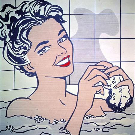 """""""Woman in bath"""" by Roy Lichtenstein"""
